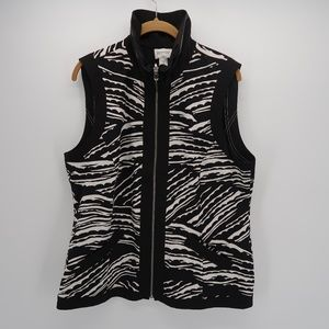 Zenery by Chico's Collared Sleeveless Zip Up Vest